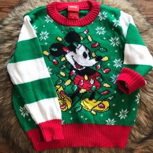 Mickey Mouse Ugly Christmas Sweater. Toddler 2T